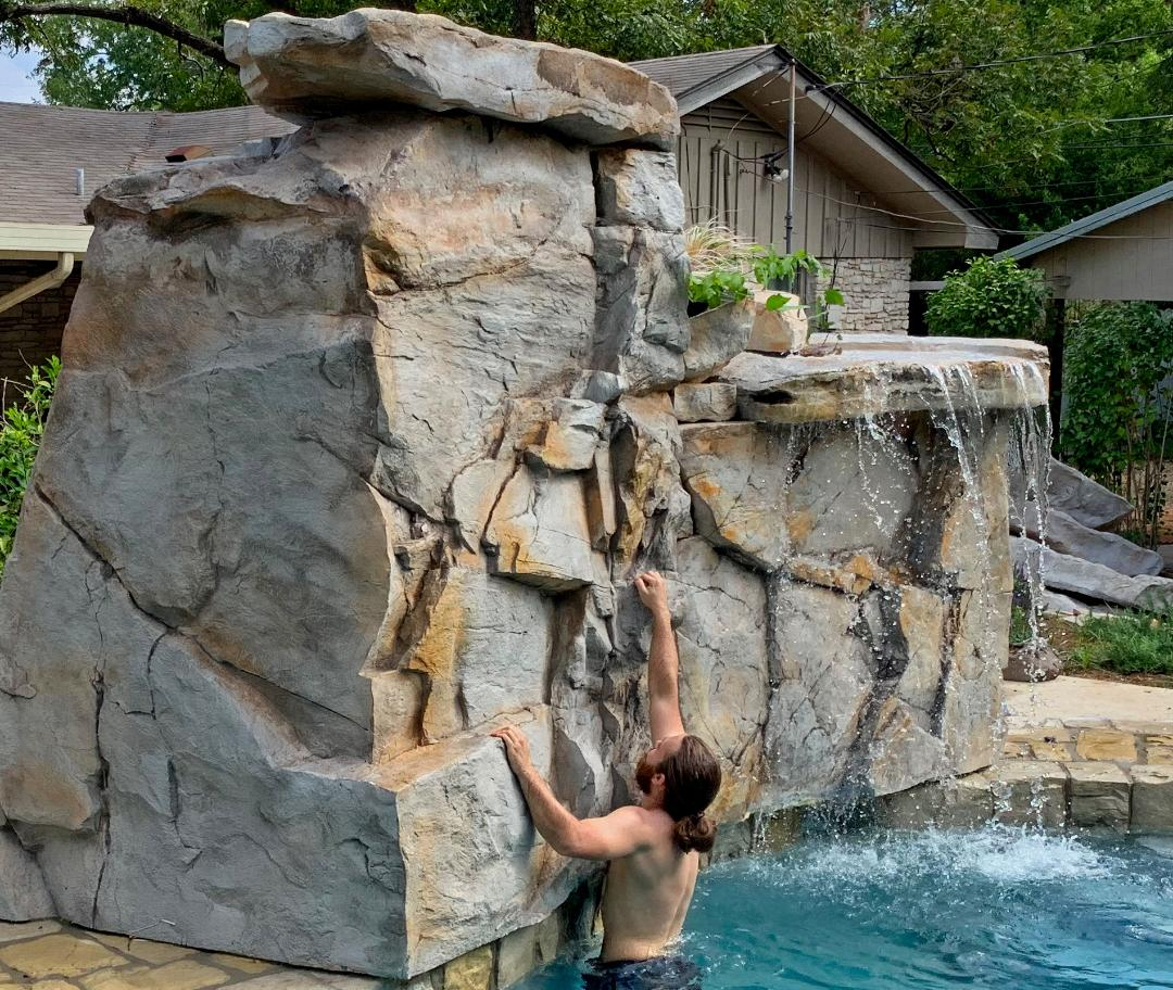 Rico Rock Launches Poolside Climbing Wall