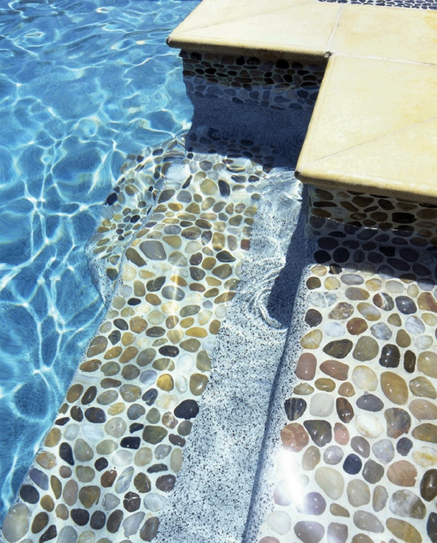 Coverall Stone Offers Pebble Tile Mosaics