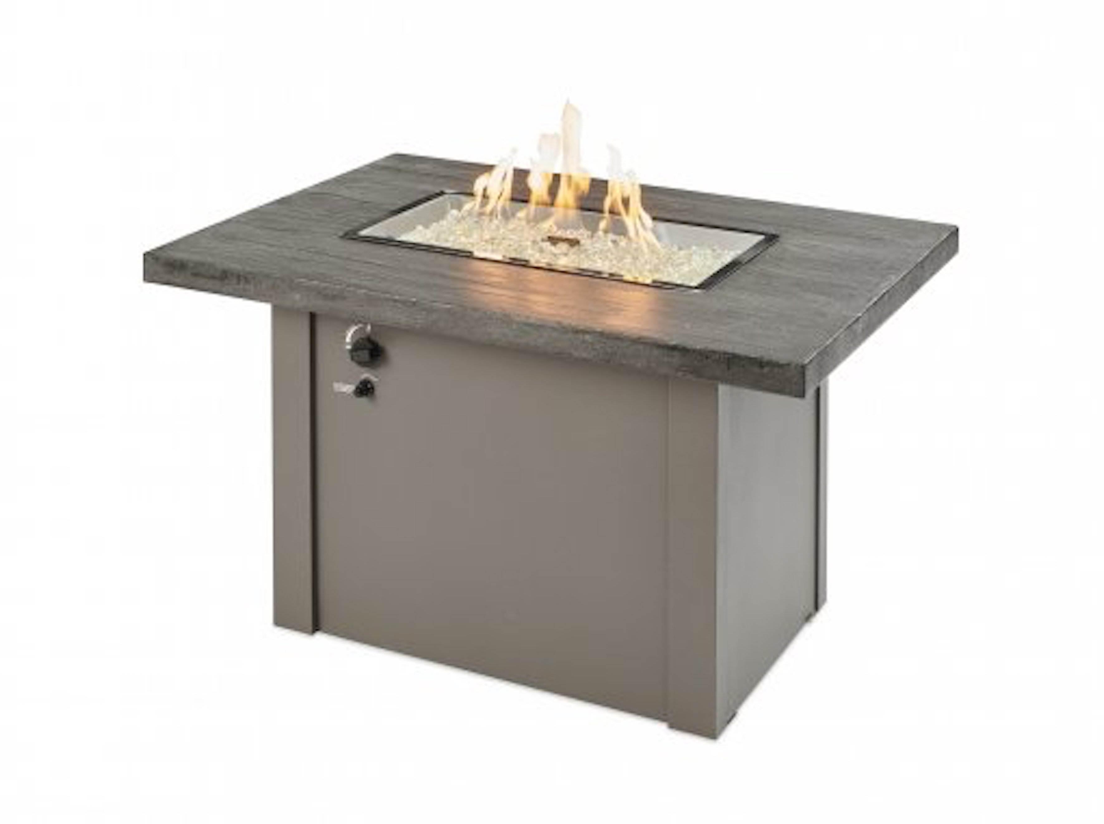 Outdoor Great Room Offers Fire Tables