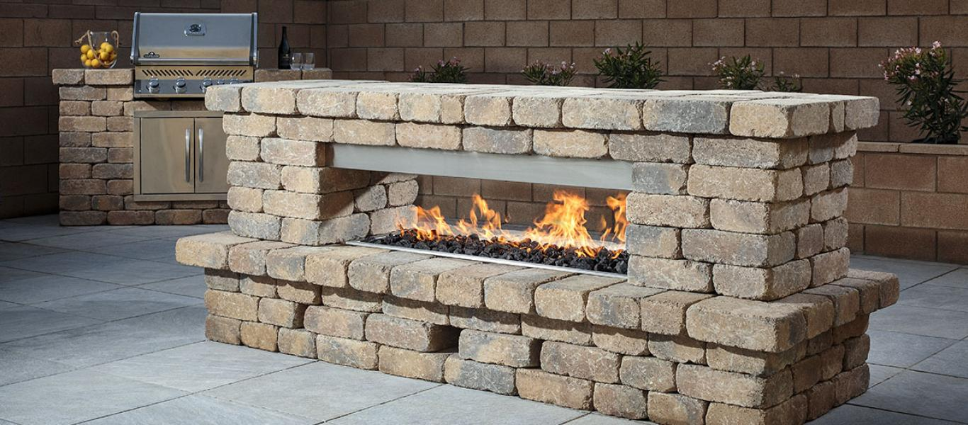 Belgard Offers Stone Fireplace Kits
