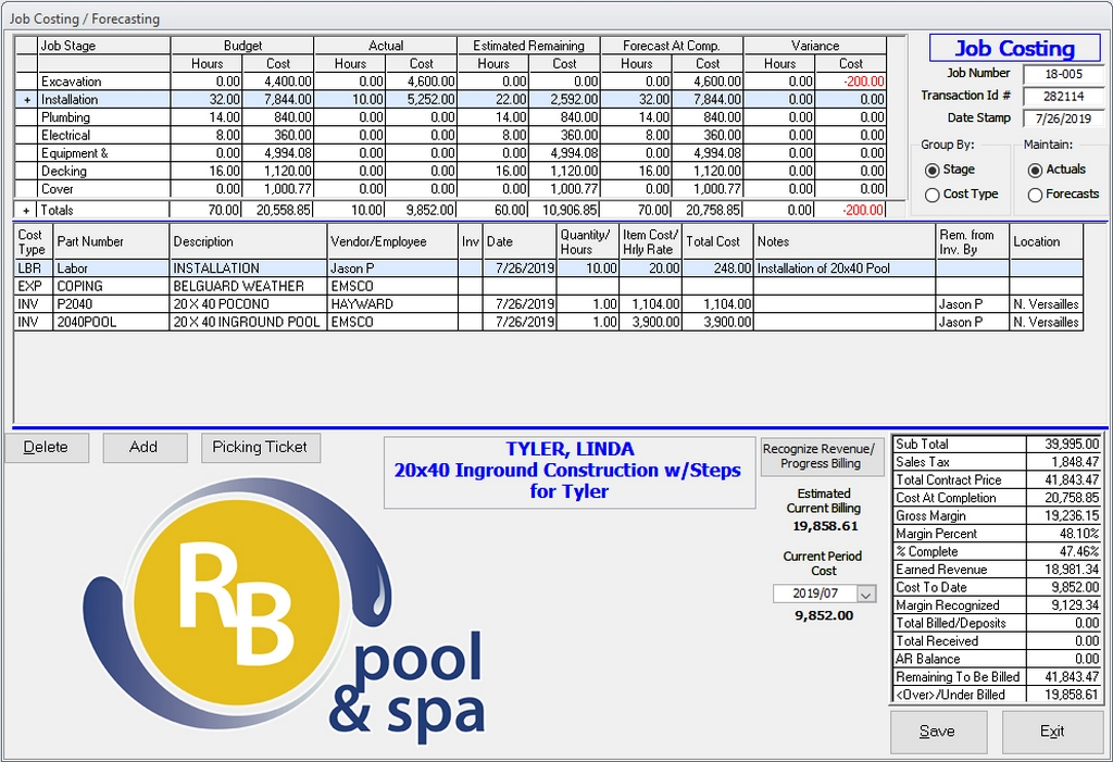 RB Pool & Spa Offers Construction Software
