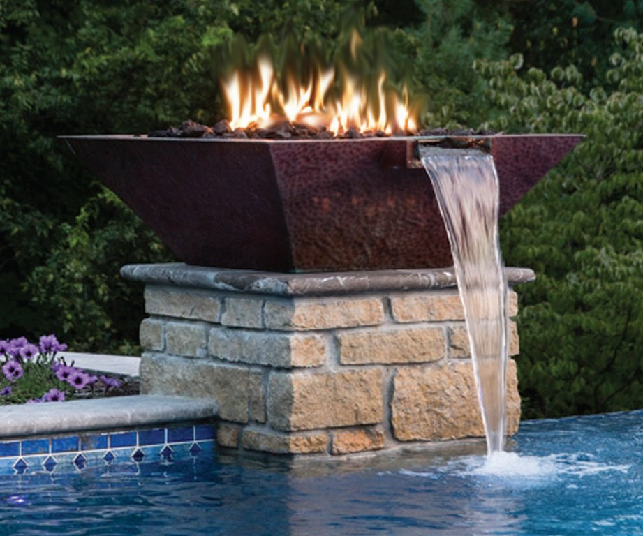 Bob water fire features offers fire bowls outdoor - Pool fire bowls ...