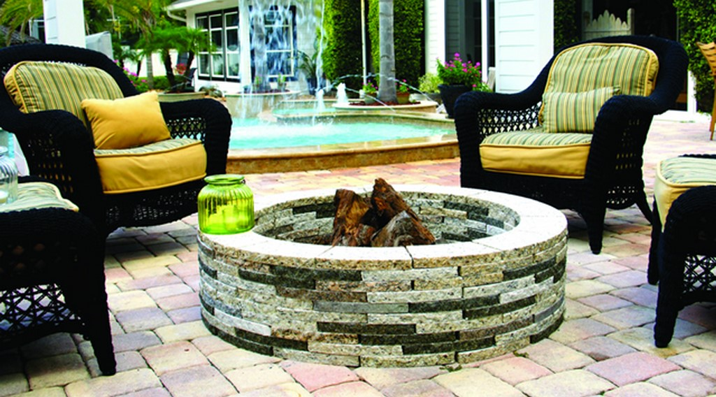 Grand Effects granite firepit art