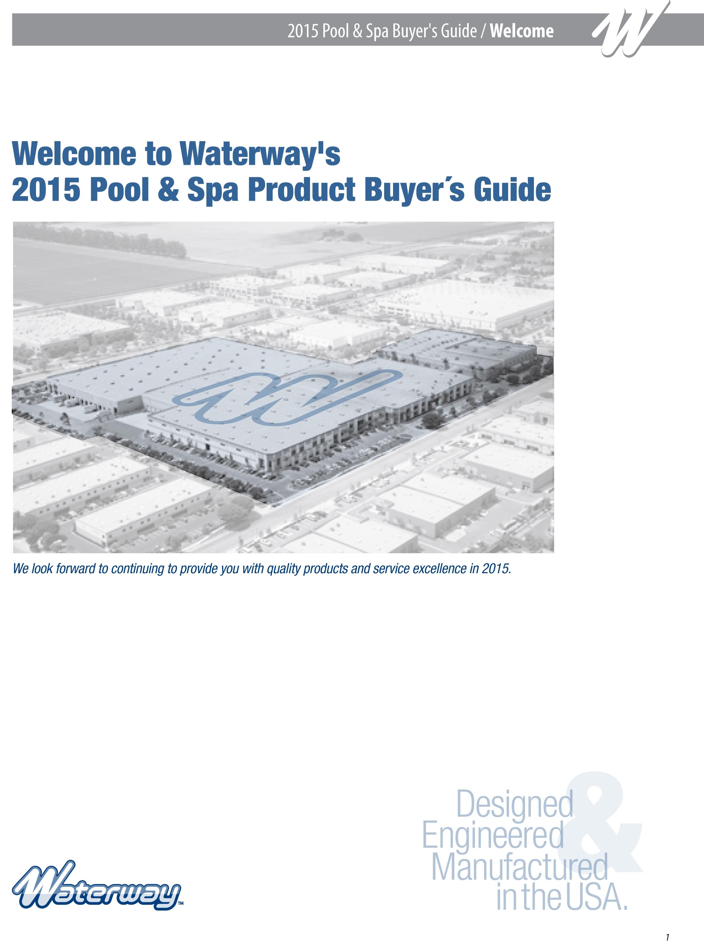 Waterway Plastics Releases 2015 Catalog Pool Spa Systems