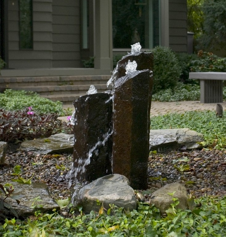 aquascape basalt column art