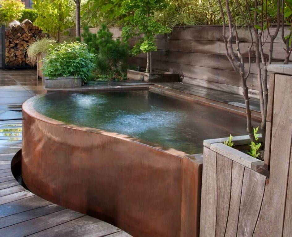 Copper Spas And Hot Tubs From Diamond Pool Spa Systems Equipment Watershapes
