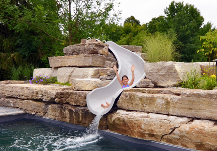 Inter fab announces garden ride slide series outdoor for Garden pool slide