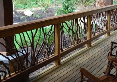 mountain laurel railing art