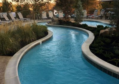 The architect wanted a pool with a long lazy-river to highlight the hotel's big deck area, and Buffy Neumann knew just how to approach the task:  She did her homework, called in a key supplier for technical assistance and executed the project in award-worthy style.