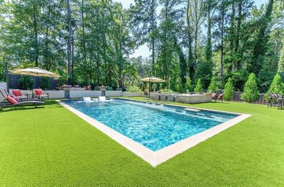 Faced with a blank slate and a design-oriented, home-builder client, Juliet Wood listened closely and created just the sort of backyard fun zone the homeowner wanted for active children -- not to mention a place to entertain friends, work with clients and find herself some relaxation.