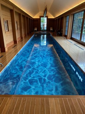 Water and air quality can spell the difference between an indoor pool environment that is pleasant and healthy versus one that is far from it. The need to resolve those issues led to Steve Kenny's escalating involvement with this high-end, all-tile lap pool; a project that has unfolded over more than a dozen years.