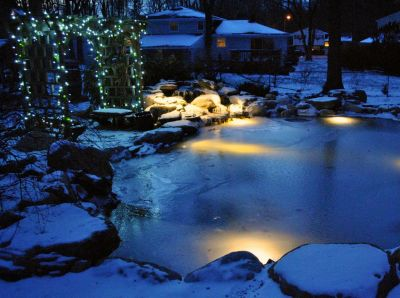 Ponds can be gorgeous year 'round, even in winter.  But keeping them attractive in truly cold weather involves some preparation, writes Mike Gannon, and a willingness to get active outdoors to keep things on track at a time when being indoors might seem a far better idea!