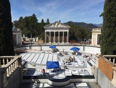 Wrapping up his discussion of the restoration of the Neptune Pool at Hearst Castle, Matthew Reynolds covers the painstaking process of resurfacing the shell with new marble as an exact replica of the original and making ready for the reintroduction of 350,000 gallons of water.