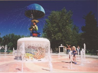 A unique mix of folk art and high technology, the Uncle Wilbur Fountain in Colorado Springs, Colo., delights area children and parents alike with its music, animation and dancing waters.  Achieving these effects required great focus, says Anne Gunn of St. Louis-based fountain design/manufacturing firm HydroDramatics, as the design team carried a whimsical work of art from concept through to a most vivid reality.   (Photo by Jacquie Rogers)