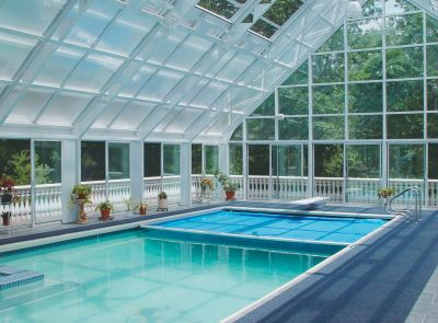 The concepts involved in setting up fully enclosed swimming pools seem pretty straightforward, observes indoor watershaping specialist Kevin Ruddy.  But appearances can be deceiving, he adds, and the situation you encounter in balancing water temperature, air temperature and relative humidity can go from bad to worse in a hurry if you discover, much to a client's dismay, that you aren't completely sure of what you're doing.