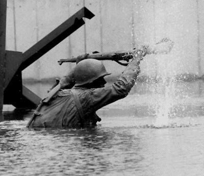 Dedicated in 2001, the D-Day Memorial in Bedford, Va., stands as a solemn commemoration of the sacrifices made by the U.S. and allied troops who landed on the beaches of Normandy in June 1944.  At the center of the memorial stands a striking watershape – designed and installed by fountain specialist Jon Mitovich and the staff at Roman Fountains – that captures the spirit of the battlefield and serves as a haunting place of remembrance.