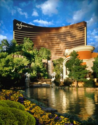 The brand-new Wynn Hotel on the storied Las Vegas Strip encompasses a range of elaborate watershapes – lakes, fountains, a rock-waterfall mountain and a host of pools and spas – as well as multiple rooftop environments.  In all cases, the reliability of waterproofing systems was of crucial importance, notes Tim Eorgan of Carlisle Coatings & Waterproofing, the firm charged with providing damage-preventive solutions for the city's newest crown jewel.  (Photo by Robert Miller/Wynn Las Vegas)