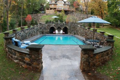 Two years after starting work on this historic site, Jason Fragomeni looked back with pride at what he and his staff at Fragomeni Design Group had accomplished.  Along that pathway to success, however, he ran into twists and turns that often had him wondering whether the project, which originated with the supposedly straightforward restoration of a 1920s-vintage swimming pool, would ever work out the way he and the homeowners hoped it would.