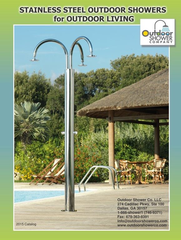 outdoor shower 2015 catalog art