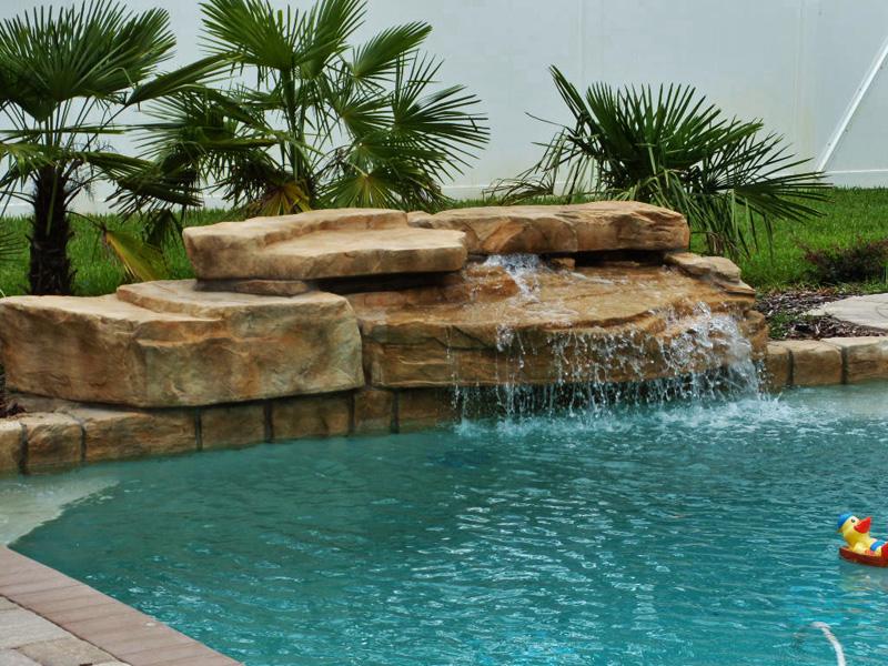 Modular waterfall fountain kits from ricorock pool spa - Swimming pool water fountain kits ...