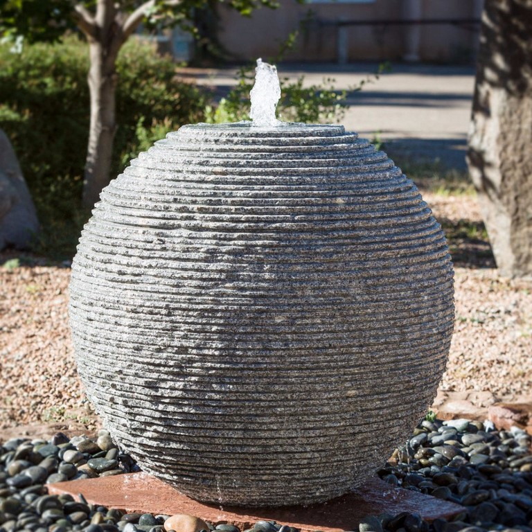 Stone Forest's Ribbed Sphere Fountains