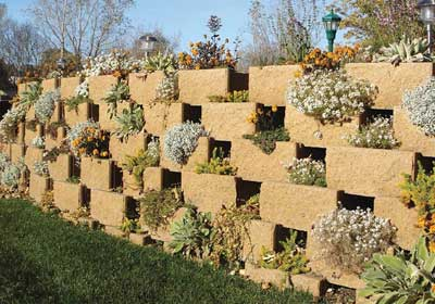 Versa-Lok Makes Plantable Retaining Walls