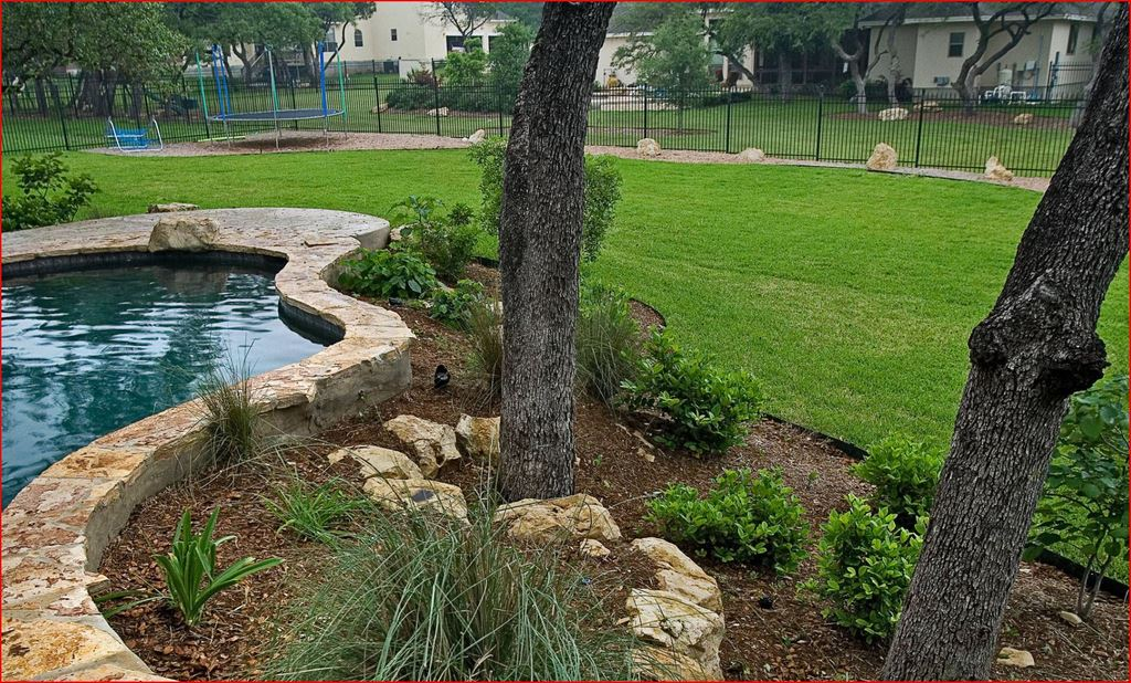 Although concern over water usage has reduced the amount of grass used on many project, it's still a popular natural companion for pools and spas.