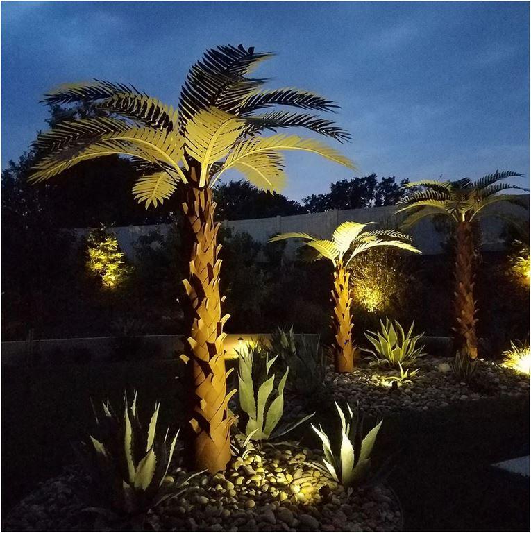 Steel palm trees